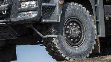 I nuovi pneumatici per il cantiere della Michelin