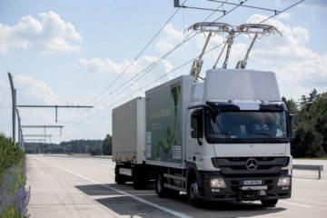camion con trazione ibrida o completamente elettrica