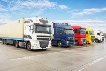 fila di camion