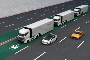 rendering camion guida autonoma