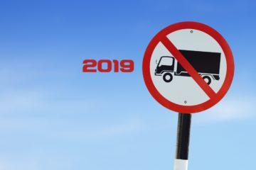 divieto circolazione 2019 camion