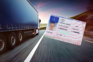 carta qualificazione conducente camion
