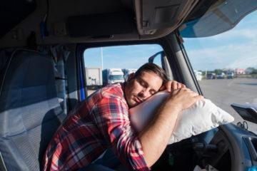 camionista colpo di sonno guida